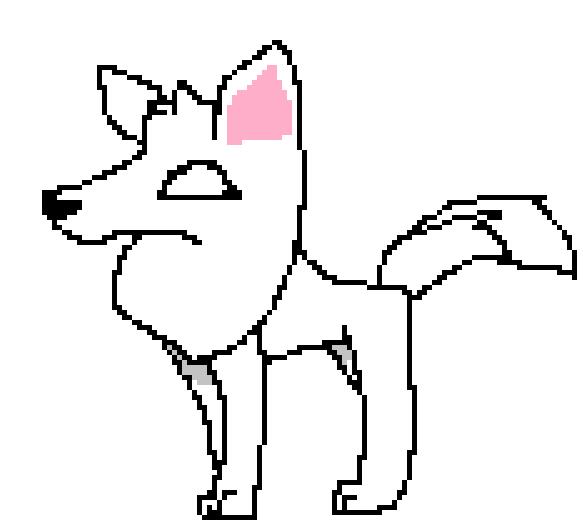 583x525 Animal Jam Pixel Art Arctic Wolf By Eclipse Illustruates