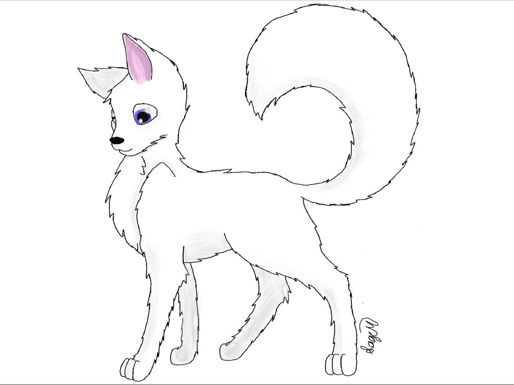 1024x768 White Arctic Wolf By Rainbowdjcookie