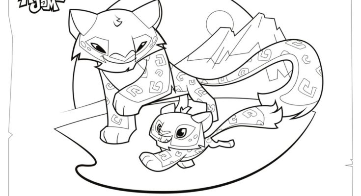 735x400 Animal Coloring Animal Jam Coloring Page Fox Animal jam. Animal