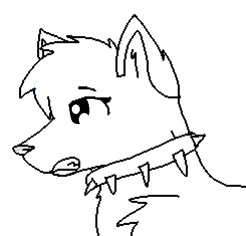490x470 Animaljam Fox Lineart Mspaint Freindly! By Alleo281aj