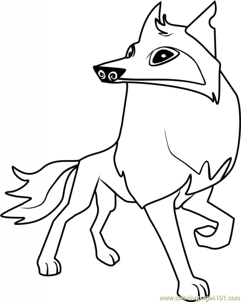 818x1024 Coloring Pages Of Animal Jam Arctic Wolf Coloring Page Fun