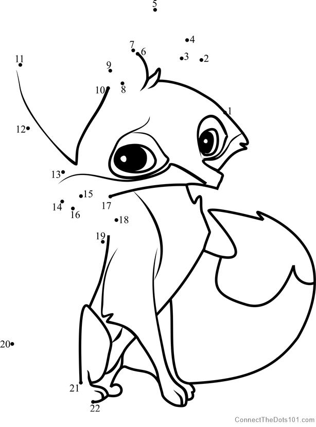 614x830 Fox Animal Jam Dot To Dot Printable Worksheet