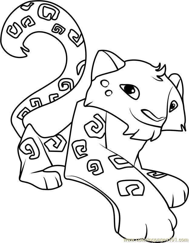 624x800 Animal Jam Coloring Pages Snow Leopard Download Printable
