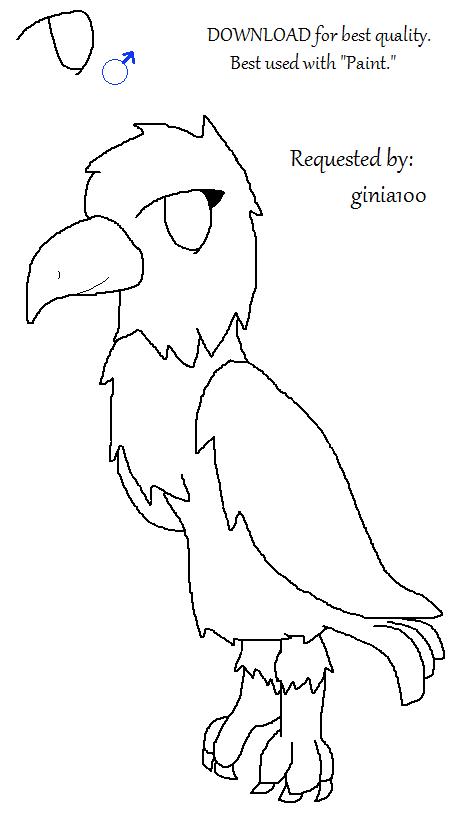 460x826 Animal Jam Eagle Base! Free To Use. By Liannakai
