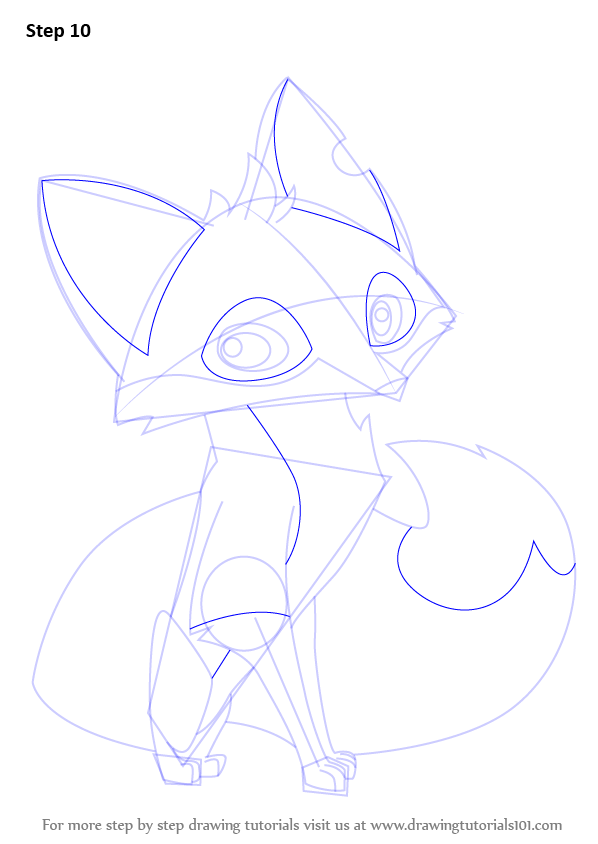 598x844 Learn How To Draw Fox From Animal Jam (Animal Jam) Step By Step