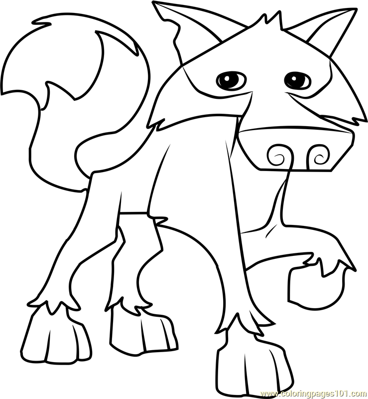 739x800 Wolf Animal Jam Coloring Page