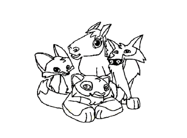 600x444 Animal Jam Coloring Pages Fox Coloring Kids Animal Jam