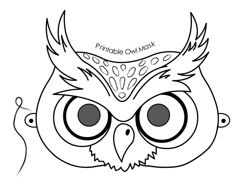 792x612 Owl Printable Template
