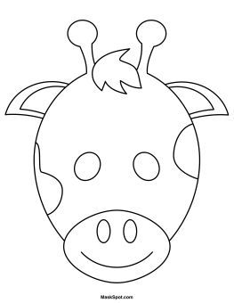263x340 Printable Giraffe Mask To Color Lucca Giraffe