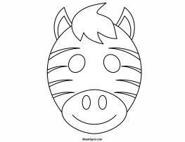 263x203 Printable Zebra Mask