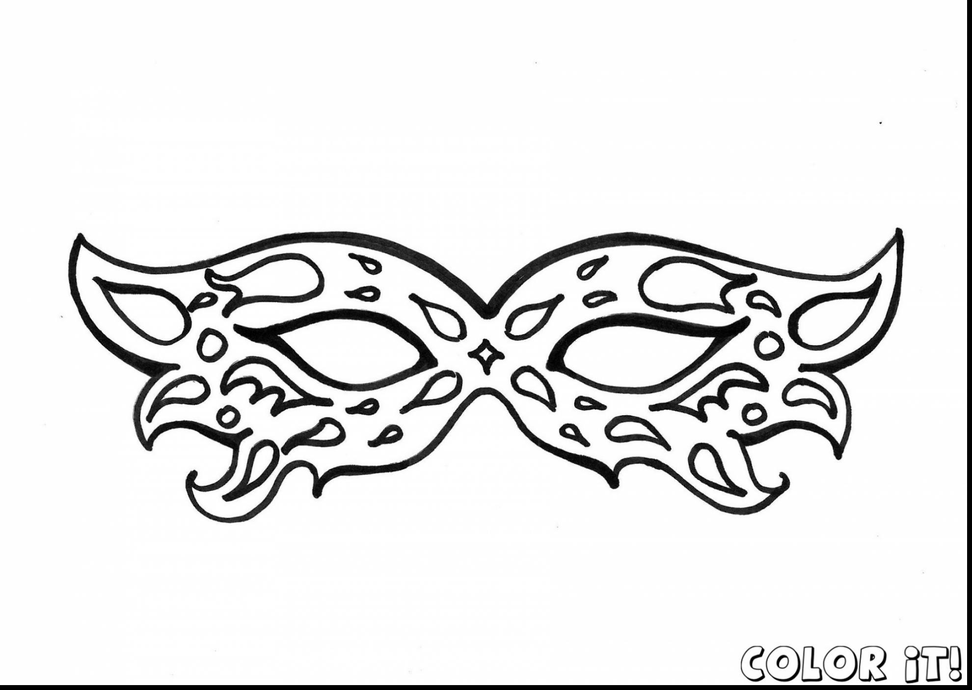 1980x1406 Excellent Carnival Masks Coloring Pages With Mask Coloring Pages