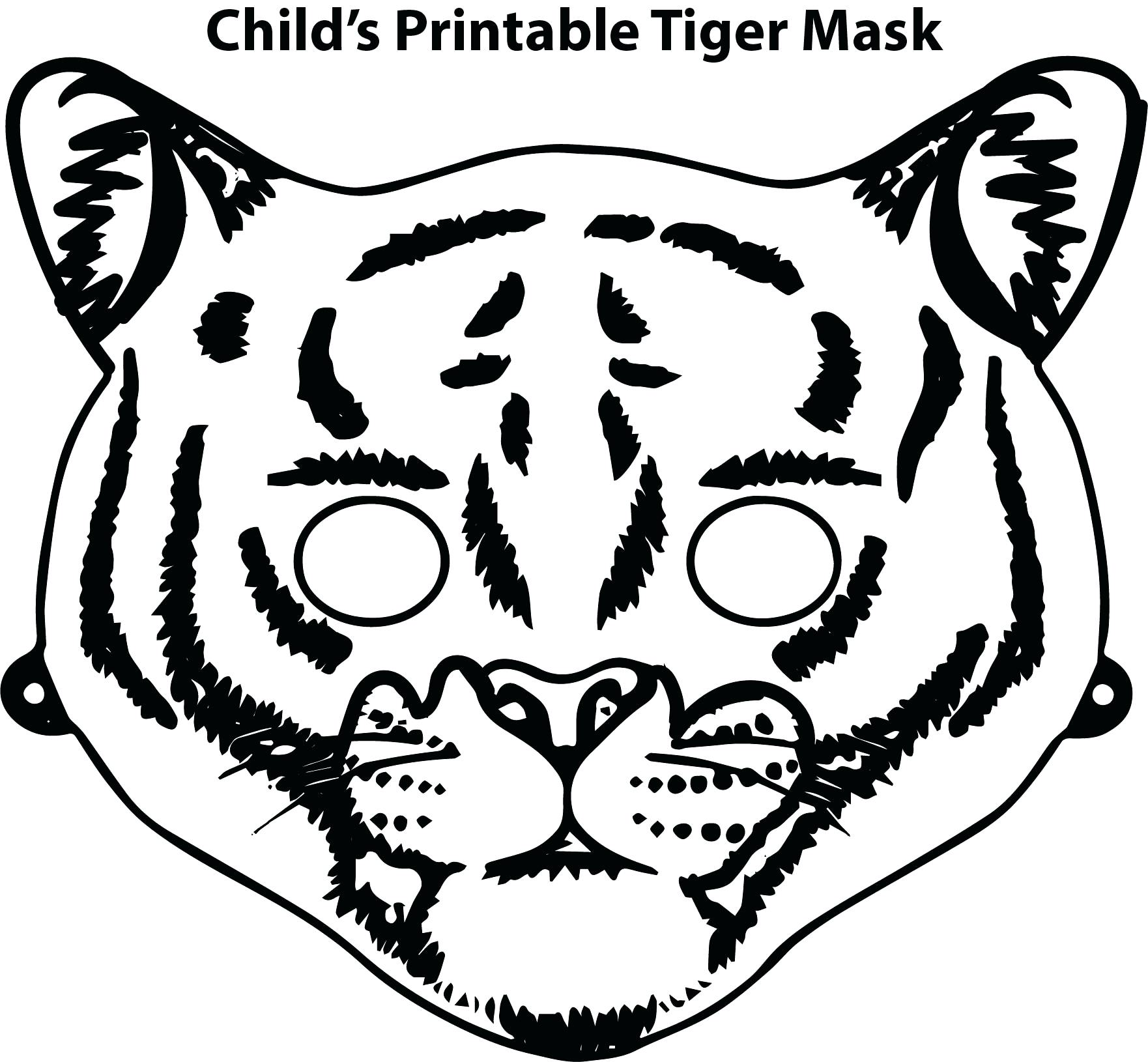 1762x1630 Printable Tiger Animal Mask Printable