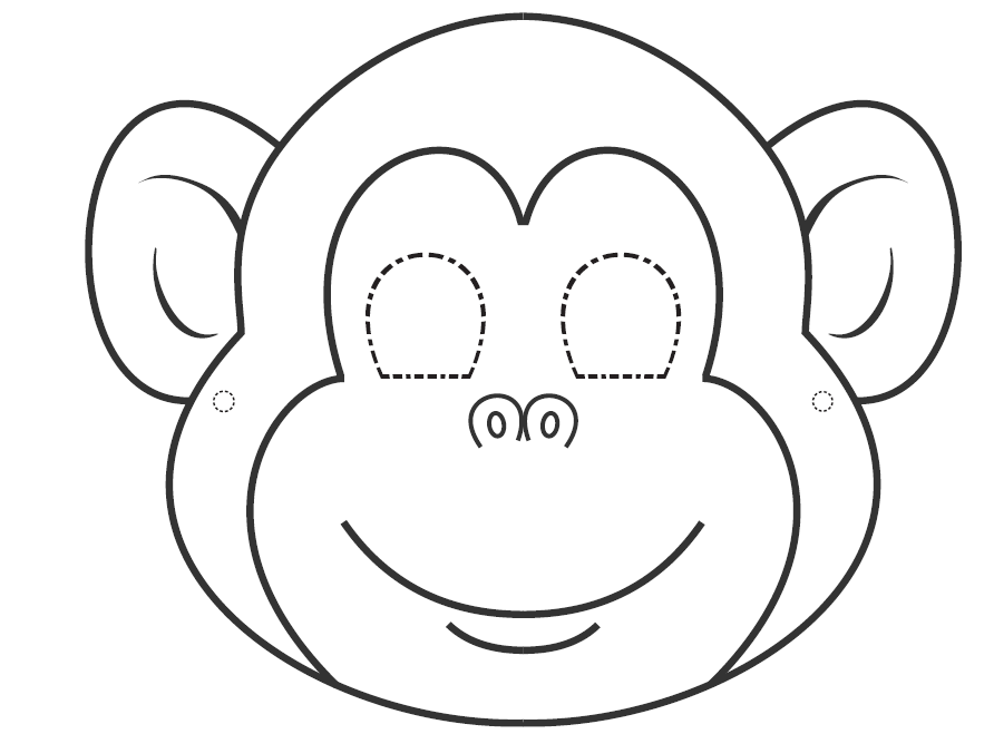 892x659 Animal Mask Clipart Black And White