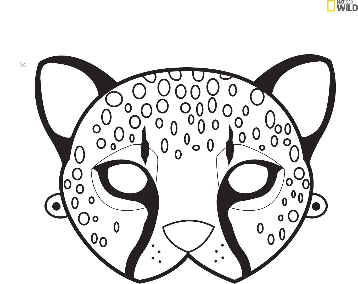 1368x1084 Animal Mask Template Wild Kratts Or Animal Party