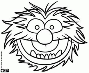306x250 12 Muppet Colouring Pages Including Kermit, Miss Piggy And Gonzo