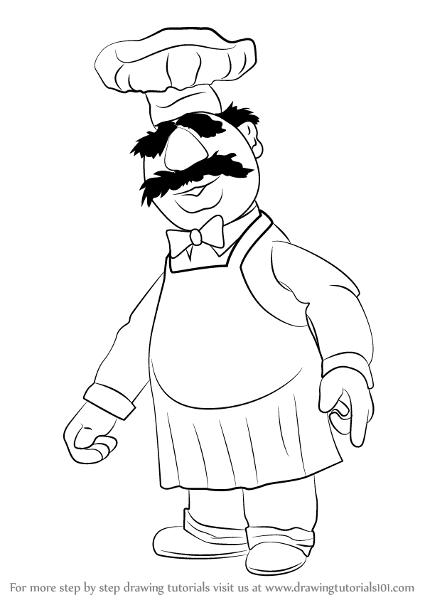 598x844 Learn How To Draw Swedish Chef From The Muppet Show (The Muppet