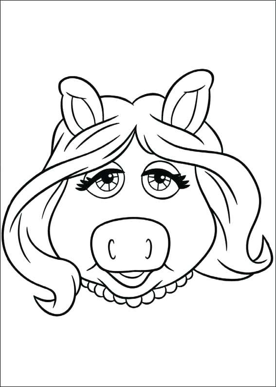 567x794 Muppet Coloring Pages Miss Piggy From Babies Coloring Pages Animal