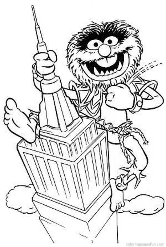 539x800 Muppets Coloring Pages 41 Children Adult Coloring