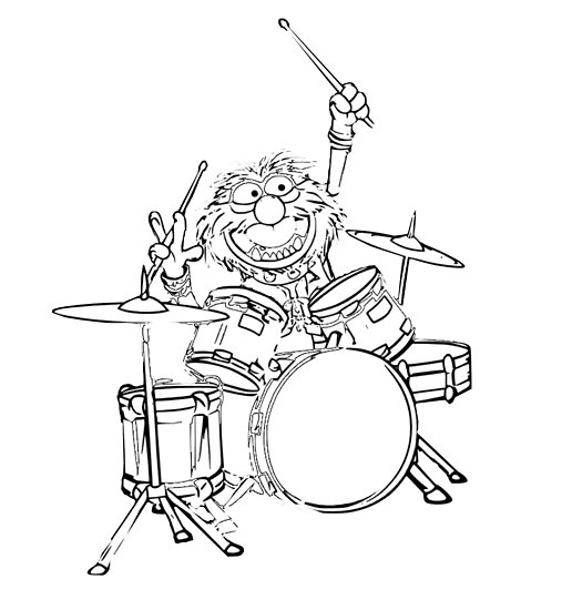 516x550 Animal Muppets Drummer Posters By Surfgirl97 Redbubble