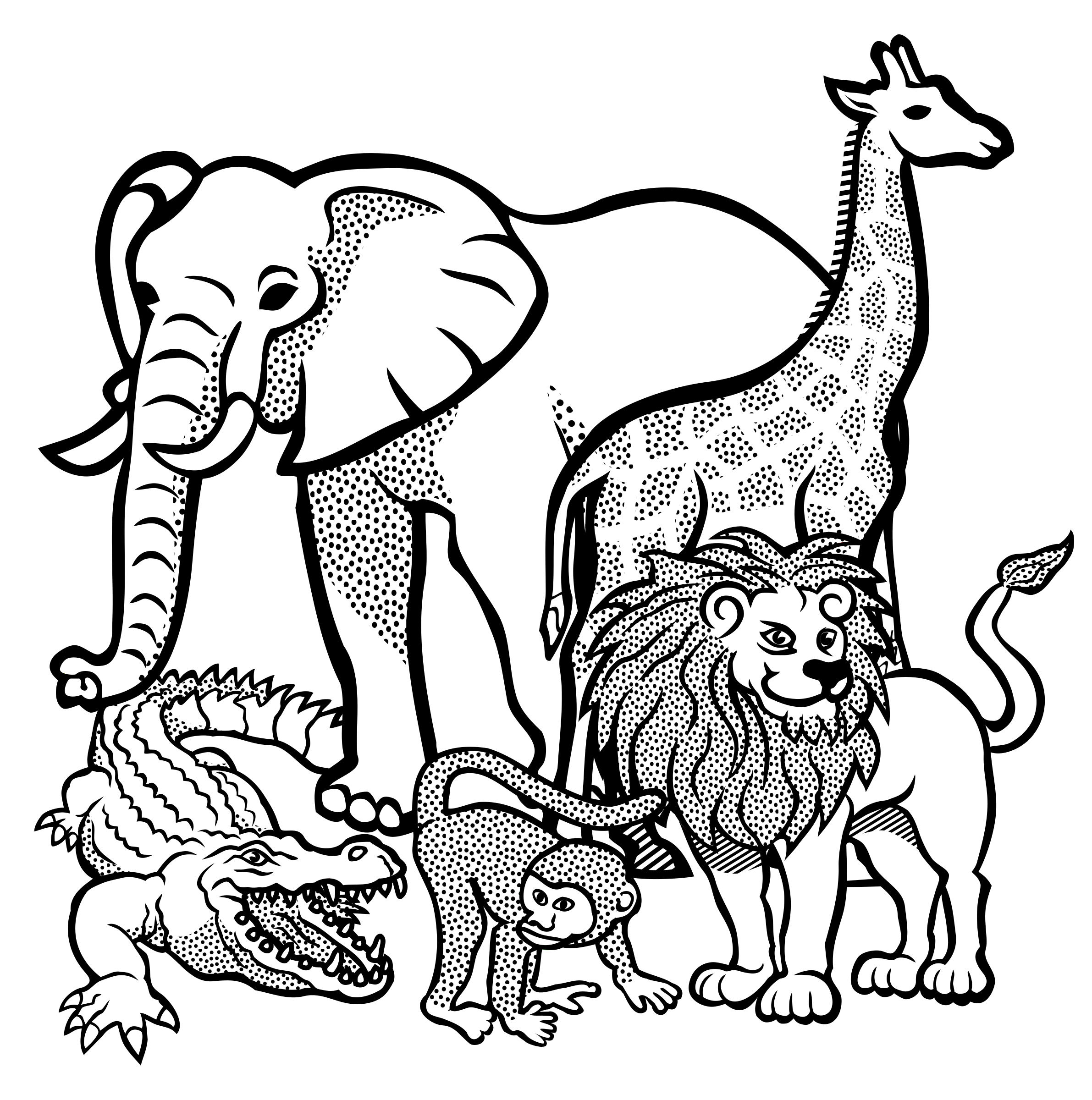 Line Drawings Animals Wildlife : Animal outline drawing at getdrawings free for