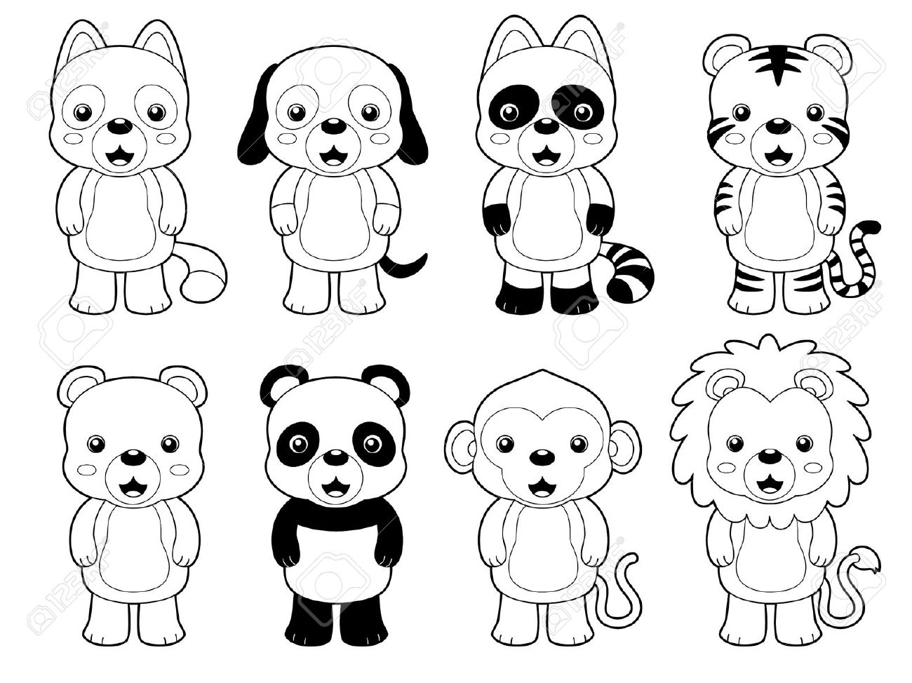 1300x974 Drawing Outlines Of Animals Animals Outline Kids Coloring