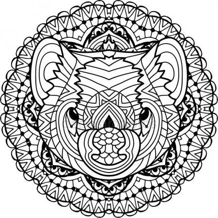 450x450 Australian Animal. The Head Of A Tasmanian Devil With Patterns
