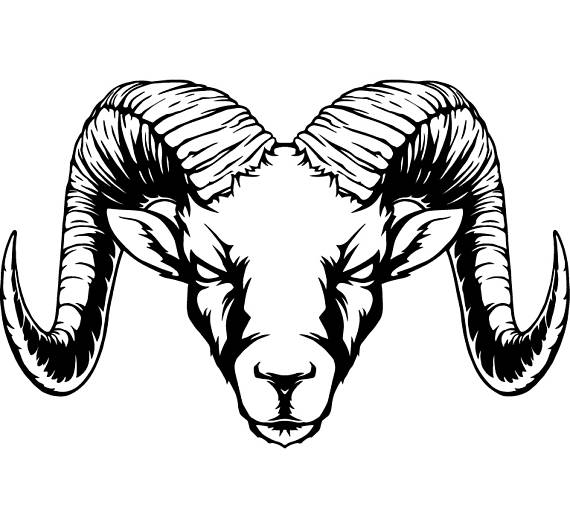 570x528 Ram Horns Sheep Zoo Wild Animal Mascot Svg Eps Png Instant