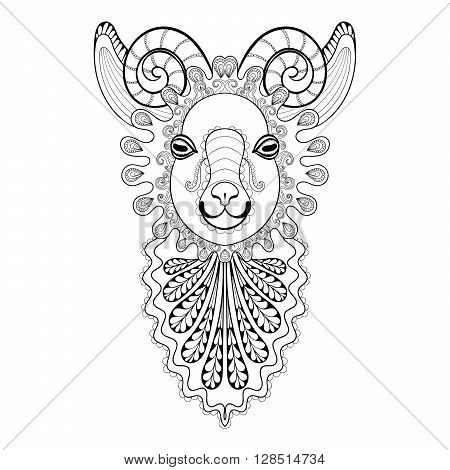 450x470 Vector Zentangle Ram Head Vector Amp Photo Bigstock