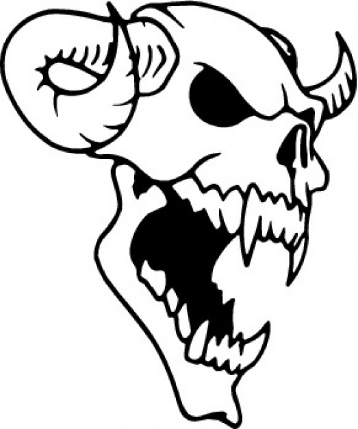 523x626 Animal Skull With Horns Vector Free Download