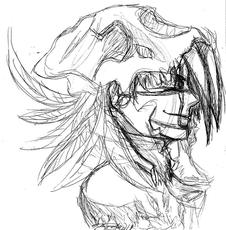900x917 Skull Head Dress By Forevernalwaysnaday