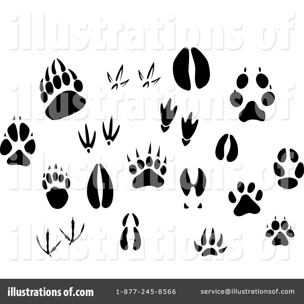 1024x1024 Animal Tracks Clipart