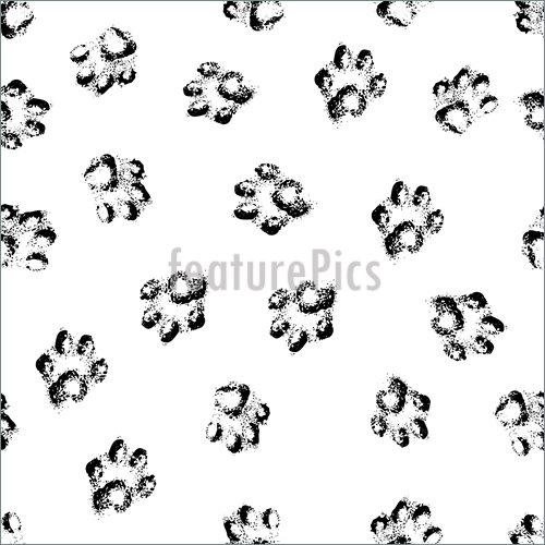 500x500 Paw Tracks Stock Illustration I3845597