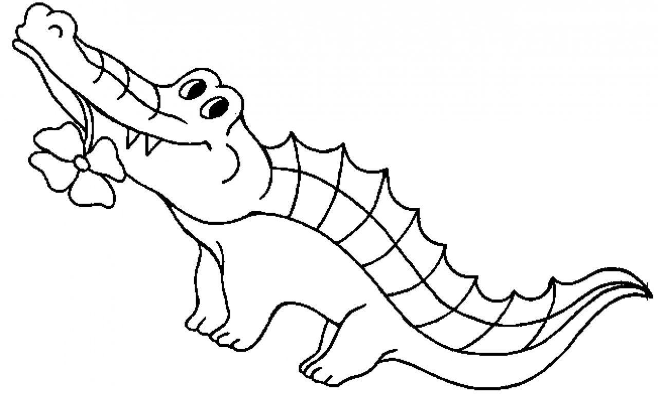 1280x768 Crocodile Coloring Pages Free To Print And Download Page Printable