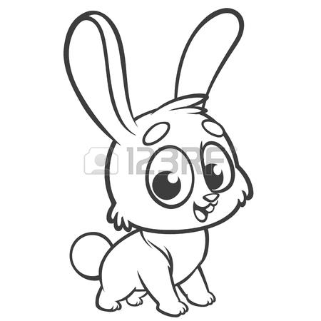 450x450 Cute Cartoon Rabbit. Farmnimals. Vector Illustration