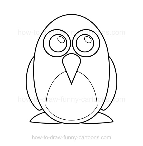 500x510 How To Draw A Penguin