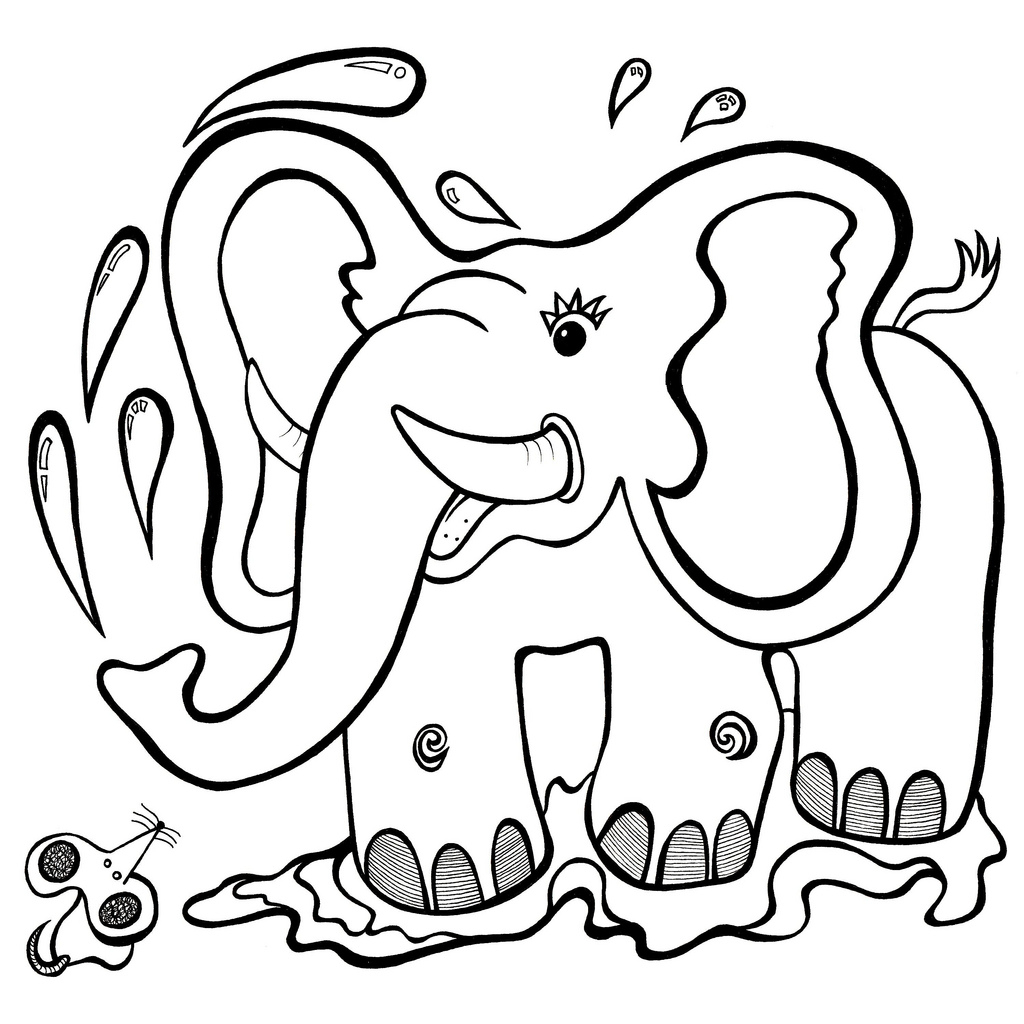 1024x1024 Cartoon Animals Drawing