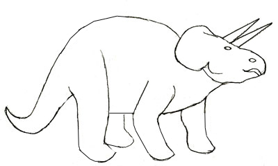 400x240 Coloring Pages Easy Dinosaur Drawings Drawing How To Draw