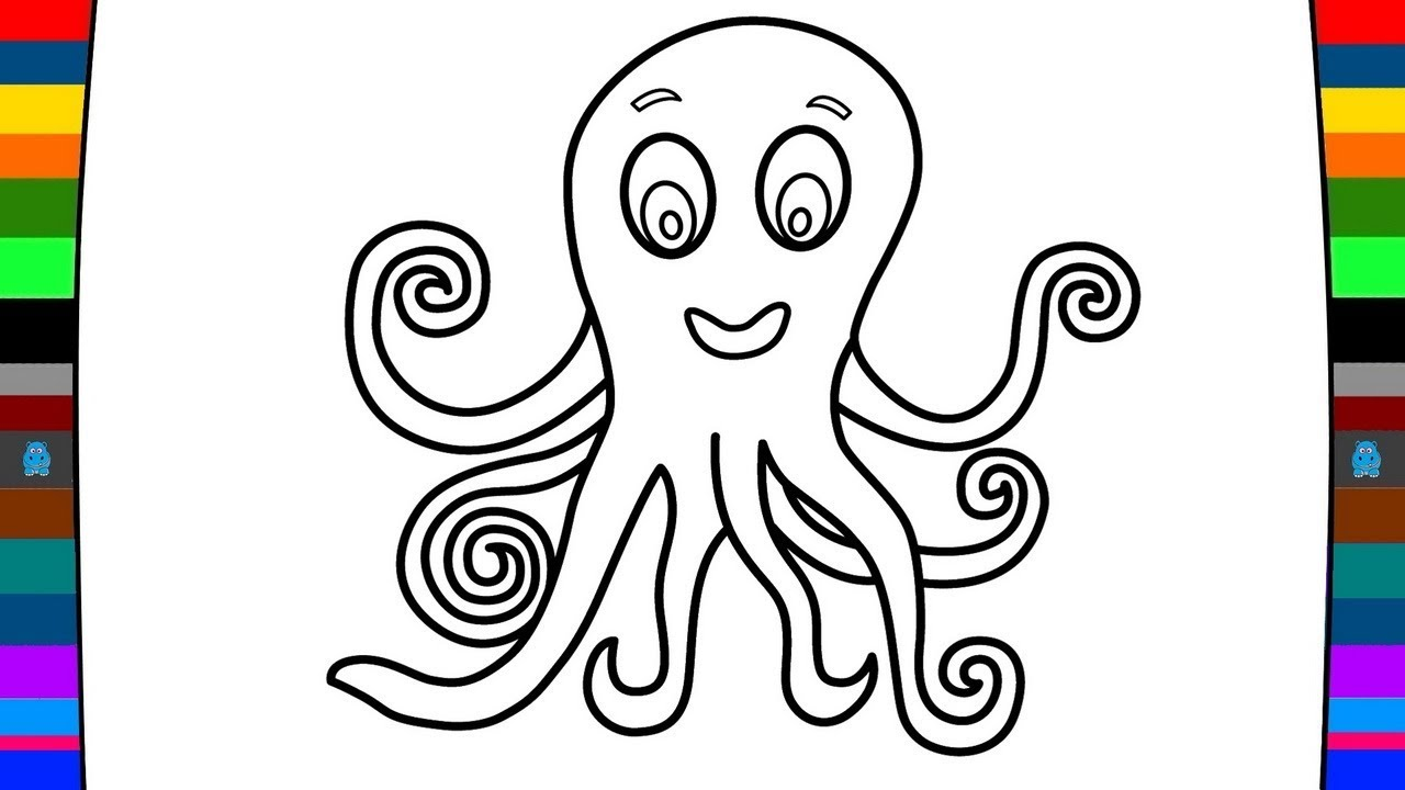 1280x720 Sea Animals Coloring Pages How To Draw A Octopus Drawing