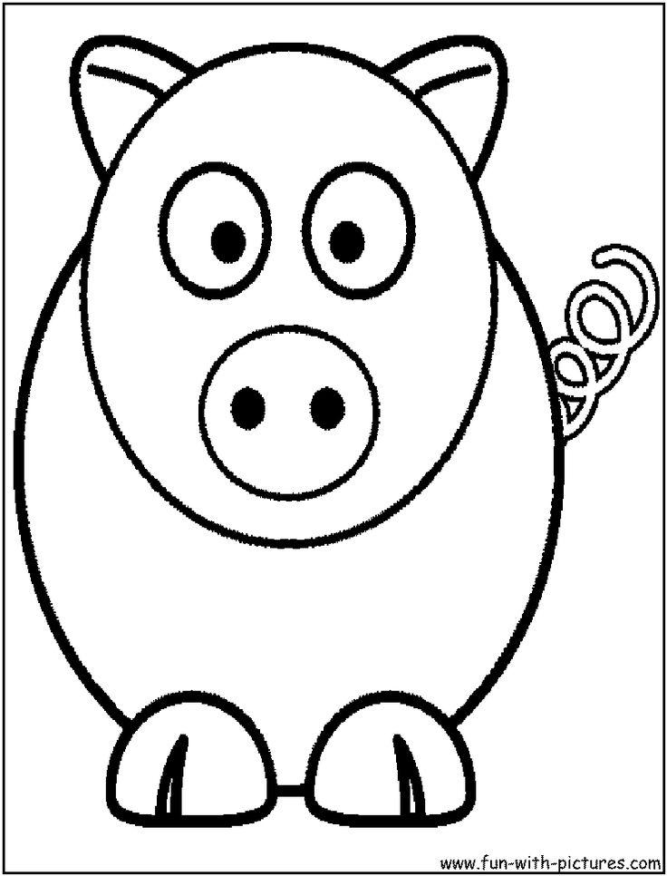 736x966 cartoon animals to draw
