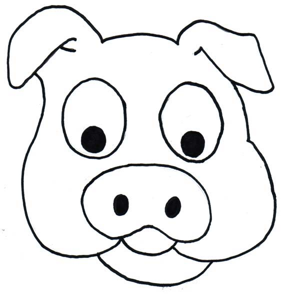 578x588 Farm Animal Faces Coloring Pages