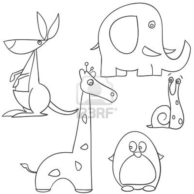 736x736 Children's Drawings Of Doodle Animals