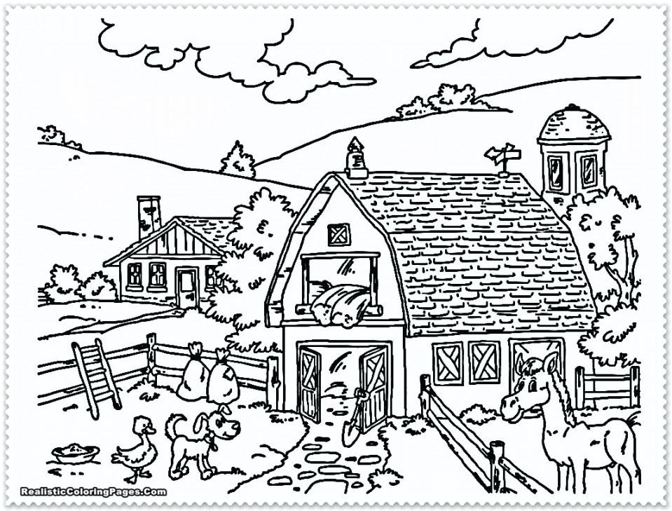 959x729 Cool Realistic Animal Coloring Pages Fee Real Medium Size