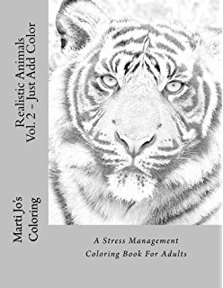 248x320 Adult Coloring Book Animals Advanced Realistic Animal
