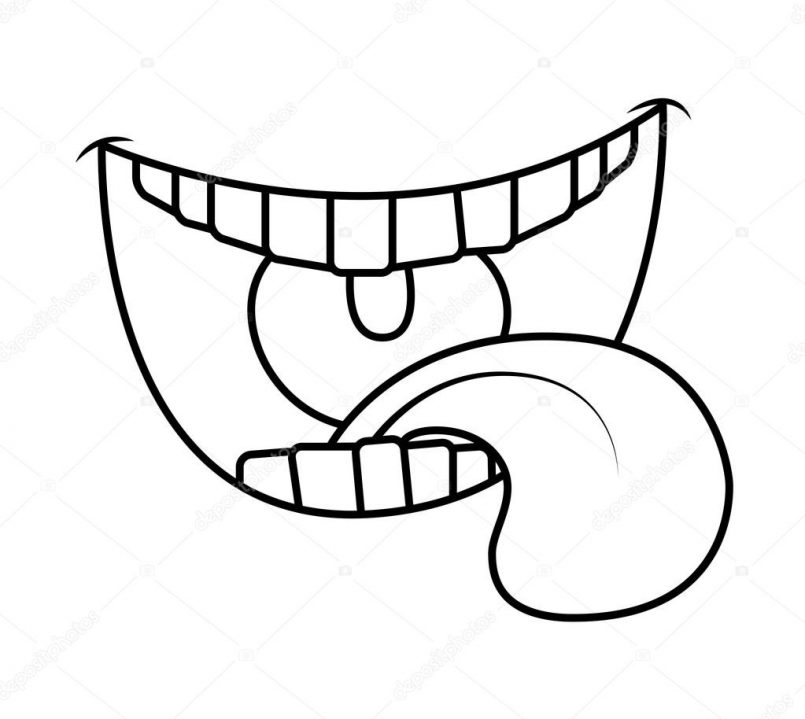 805x719 Drawing Drawing A Cartoon Mouth Also Cartoon Drawing Of Mouth