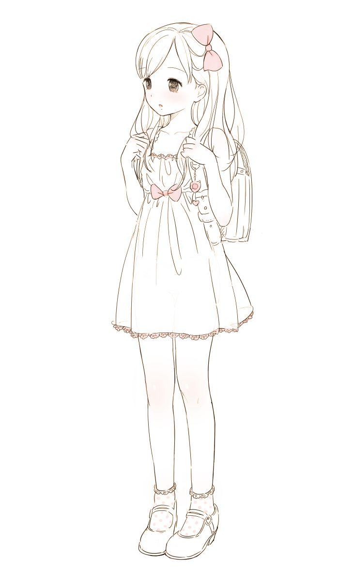 Animated Girl Drawing