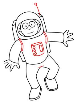250x336 How To Draw A Cartoon Astronaut Space Unit