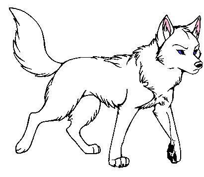 Картинки волков аниме красивые