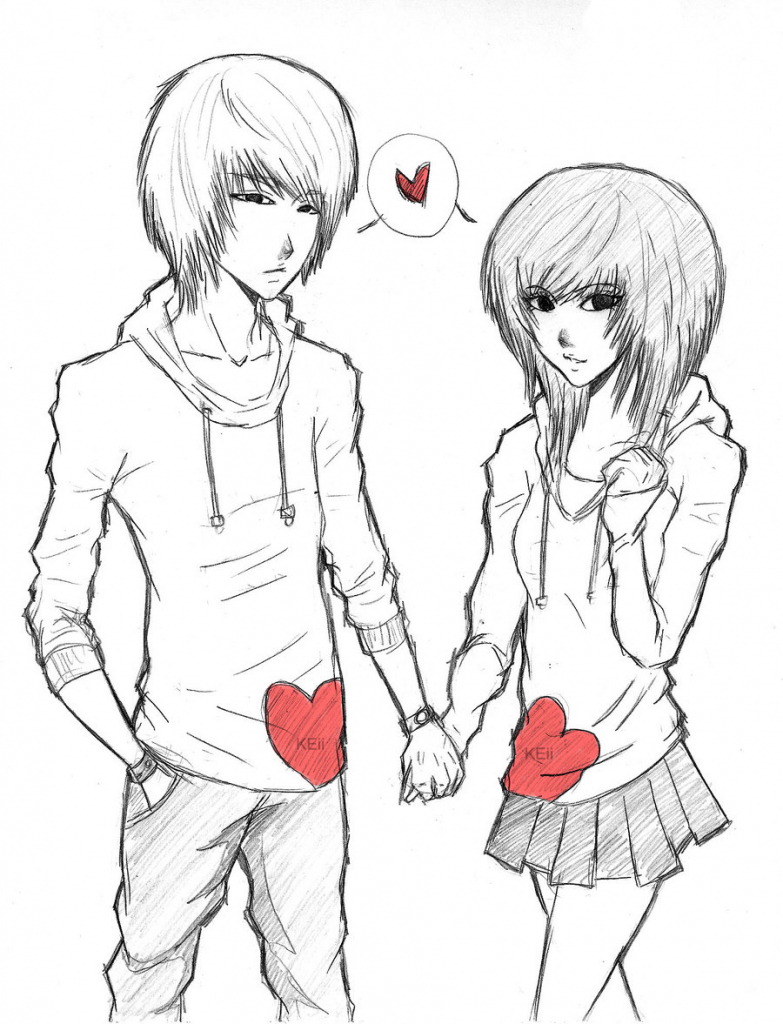 783x1024 Cute Drawing Of A Couple Anime Cute Couple Drawing