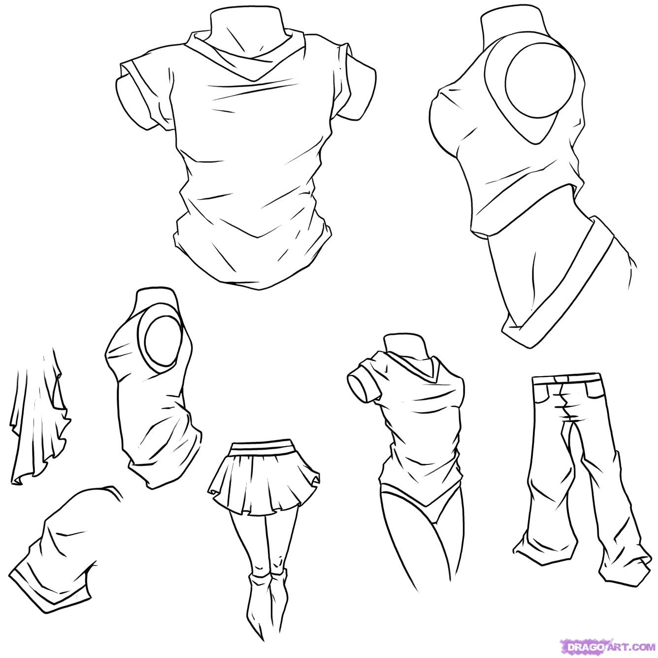 1336x1336 How to Draw Fantasy Anime How to Draw Anime Clothes, Step by