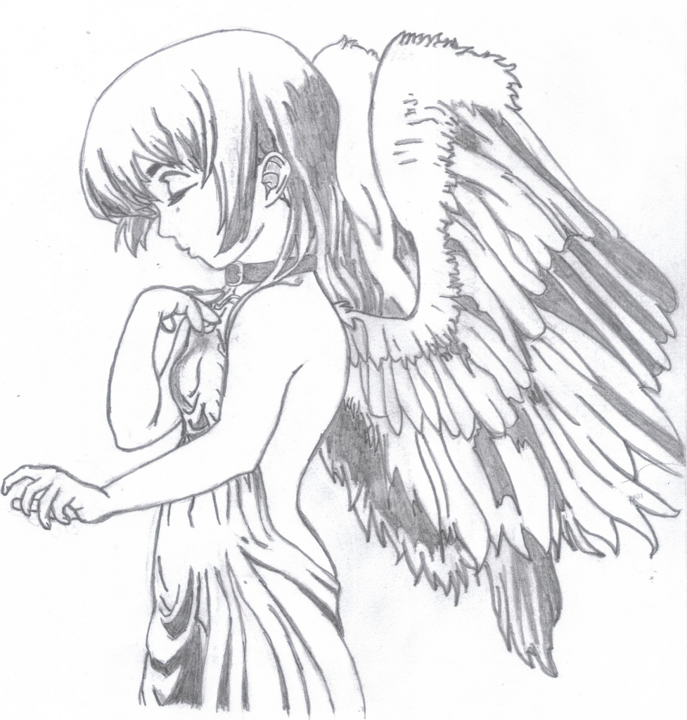 977x1024 Anime Angel Drawing Anime Angel Drawing